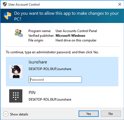 Change User to Administrator in Windows 10 without Admin