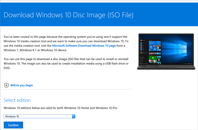 download windows 10 disc image file