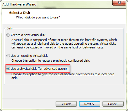 Boot a Virtual Machine from USB or CD(ISO Image) on VMware Station