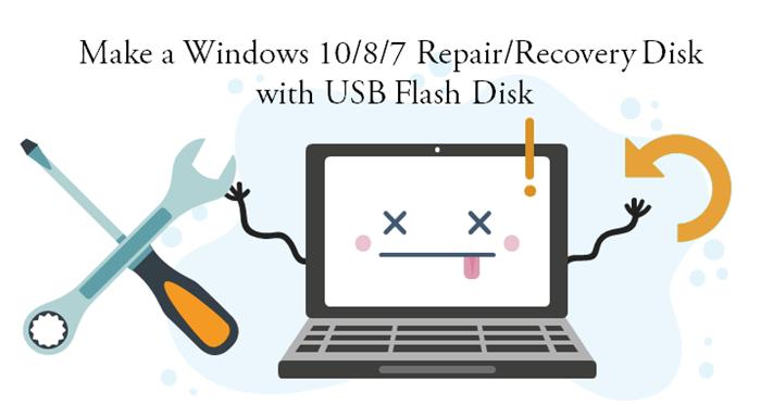 how to make a windows 7 repair disk usb