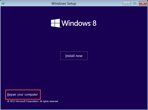windows installation screen