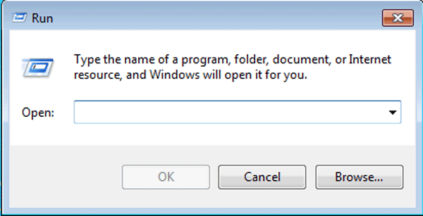 type host ip in run dialog