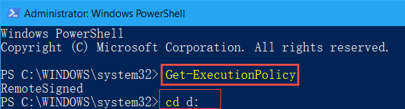 get execution policy