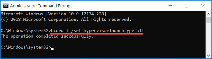 disable hyper-v windows 10 command line