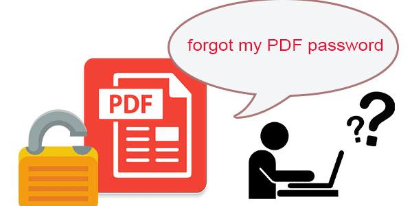forgot PDF password