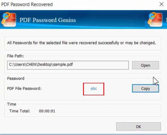 get secured PDF password