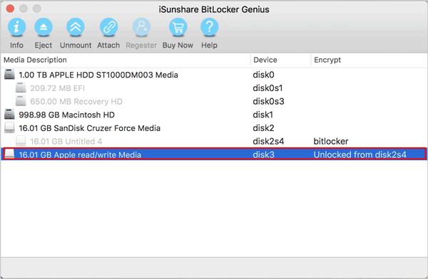 the decryption drive