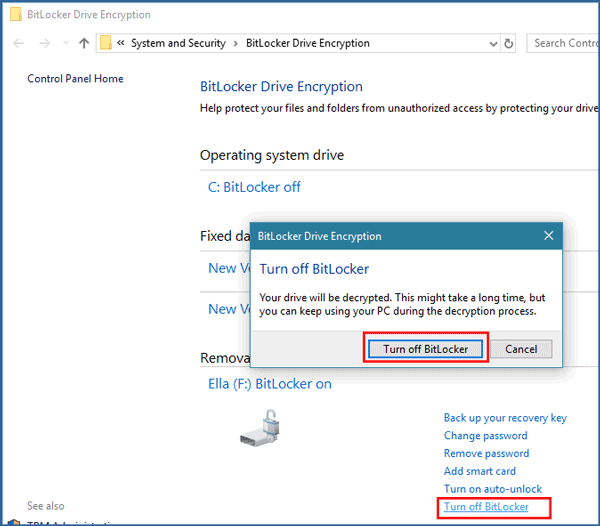 Easy to Remove BitLocker Encryption from Pen Drive with or without