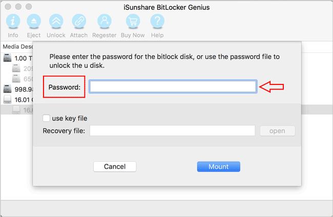 How to Open BitLocker Drive/USB/SD Card on Mac OS X