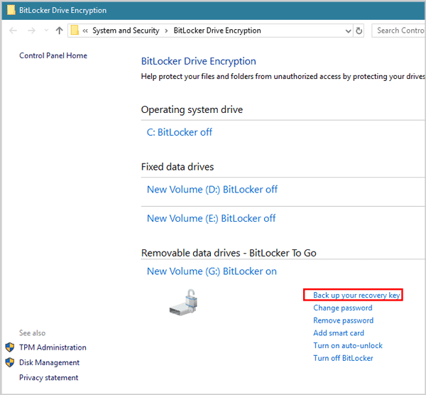 Where to Get BitLocker Recovery Key if I Forgot