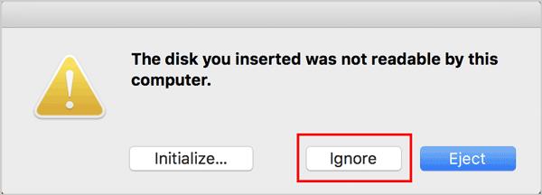 ignore disk error