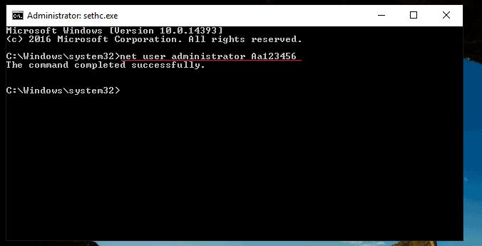 Admin Password Reset on HP Proliant Raid Server