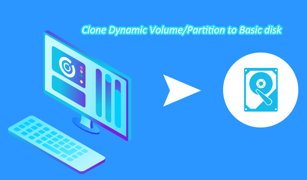 clone dynamic volume to basic disk