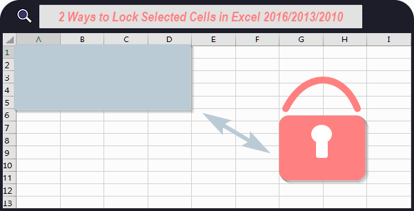 lock selected cells in Excel