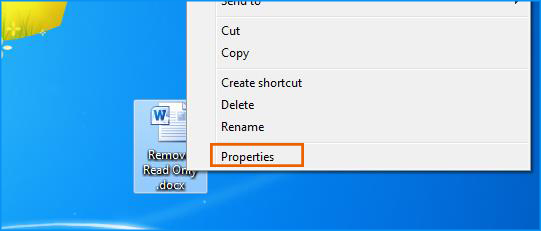 Word document properties option