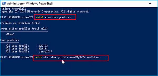 find your wifi password via windows powershell