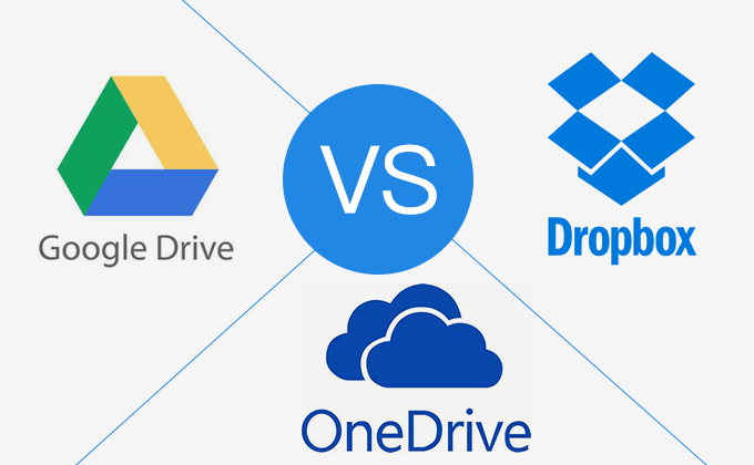 Comparisons: Dropbox VS Google Drive VS OneDrive
