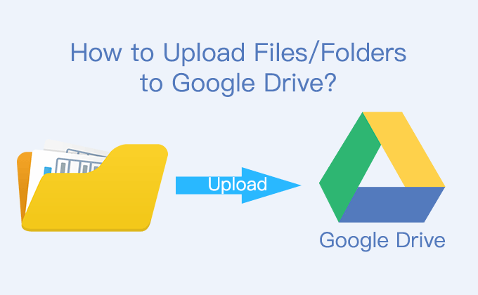 How to upload files or folders to Google Drive