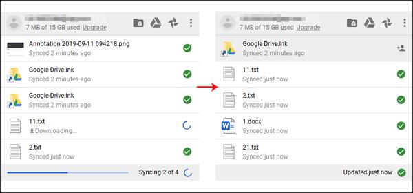 Upload folders by Google Drive