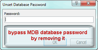 bypass encrypted MDB database file password