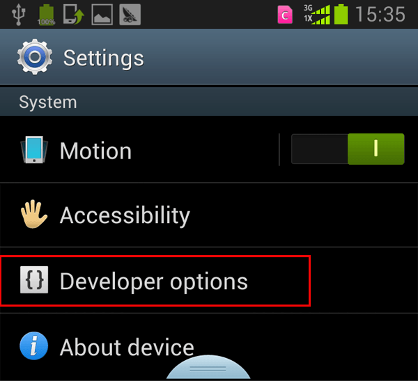 Or disable usb debugging on galaxy tab android apps directories