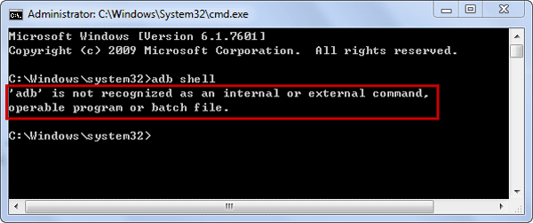 Fix Error - ADB Cannot Be Recognized as Command
