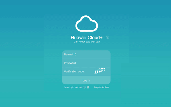 sign in Huawei Cloud+