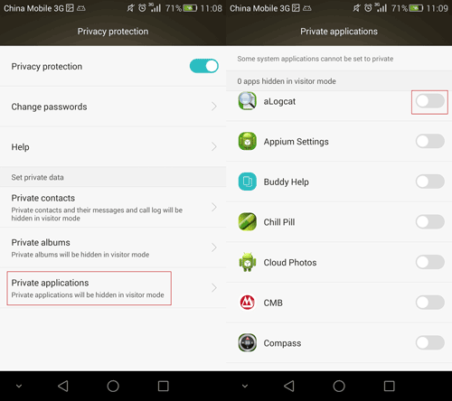 How to Private Contacts/Albums/Apps on Huawei Android