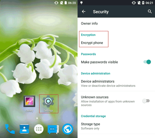 Three Ways to Lock and Encrypt Google Android Phone