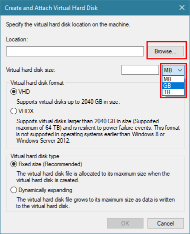 How to Create, Mount, Unmount and Convert VHD/VHDX