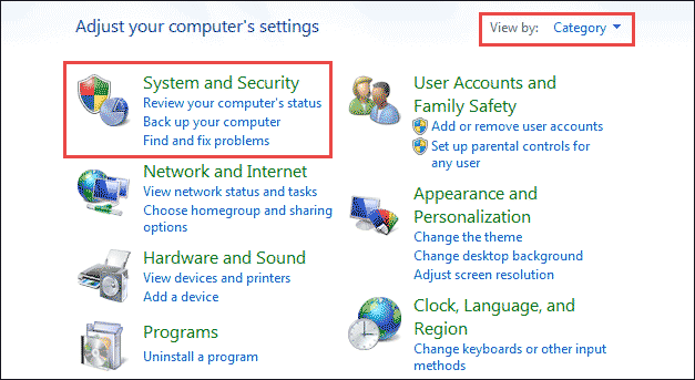 find system and security