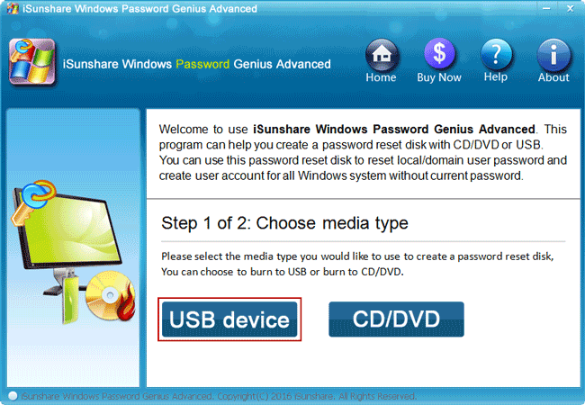 creating a password reset disk