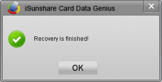 successfully recover card lost data