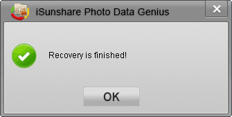 successfully recover selected lost photo