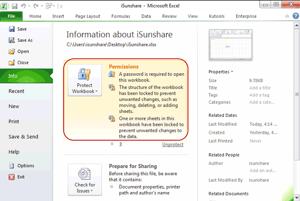 forgot protected Excel password
