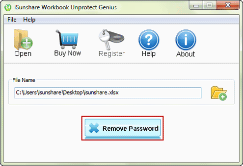 try to remove excel workbook protection password