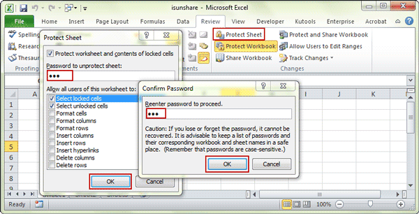 Password Protect Excel File and Excel Sheet/Workbook