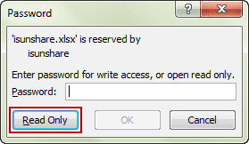 open excel xlsx file in read-only mode