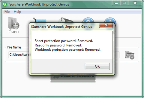 remove forgotten excel file password