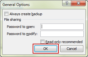 clear password to open and modify excel file
