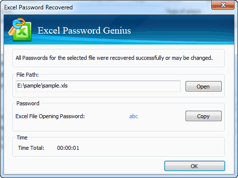 successfully recover encrypted excel file open password