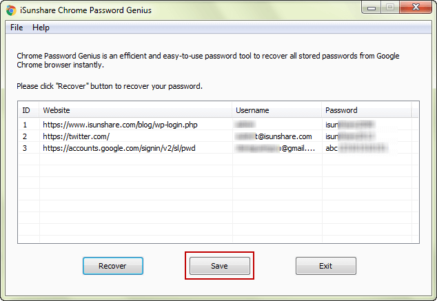 decide to export username and passwords chrome saved