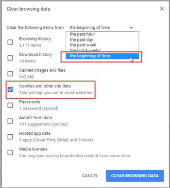 How to Clear or Disable Google Chrome Cookies on Windows 10