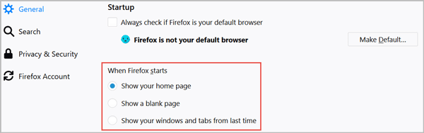 How to Customize Homepage and Startup Firefox
