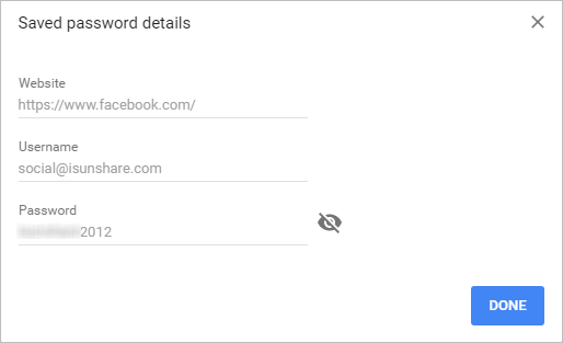 successfully find saved passwords in chrome settings