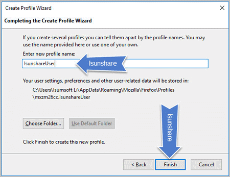 Use Profile Manager to Create and Backup Firefox Profile