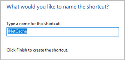 type shortcut name to create temporary shortcut