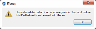 enter iOS recovery mode with Home and Power button