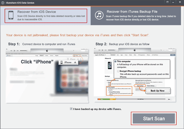 iPhone file recovery without backup