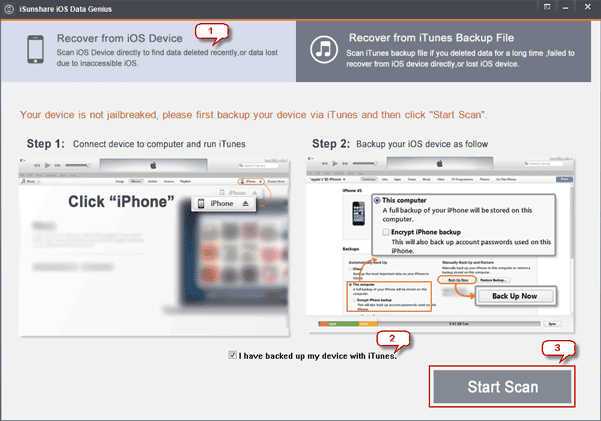 iphone photo recovery by scanning iphone with iphone photo recovery tool